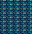 Abstract creative fish and eye seamless pattern vector image vector image