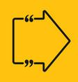 arrow right speech bubble quote template vector image