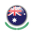 australia flag button australia flag icon vector image