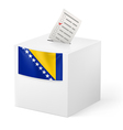Ballot box with voting paper Bosnia and vector image vector image