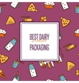 Best dairy product seamless pattern vector image