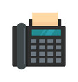 black fax icon flat style vector image