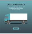 blue cargo delivery truck vector image vector image