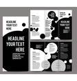 brochure design template trifold vector image vector image