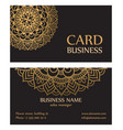 Business card with circle gold ornaments