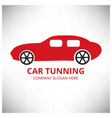car tuning auto centre auto repair service car vector image