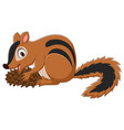cartoon chipmunk holding a cone vector image vector image