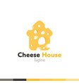 cheese house logo restaurant logo food and vector image