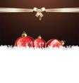 Christmas brown design vector image vector image