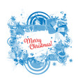christmas frame for your design vector image vector image