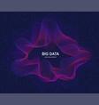 circular visualization of big data artificial vector image vector image