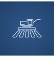 Combine harvester line icon vector image vector image