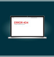 computer not found page error 404 for website vector image