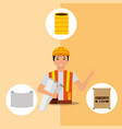construction people tools vector image vector image