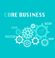 core business graphic for business concept vector image vector image