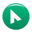 cursor modern element icon green vector image