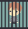 cute prisoner in the jaill vector image