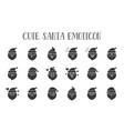 cute santa claus emoticon solid design vector image vector image