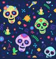 dia de los muertos pattern dead day holiday vector image vector image