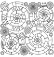 ethnic black and white ornament vector image vector image