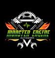 fire power monster engine logo design symbol icon vector image vector image