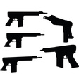 firearm silhouette vector image