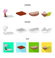food and yummy logo vector image