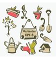 gardening tools objects and equipment vector image vector image