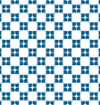 Geometric seamless pattern with rounded square vector image vector image
