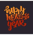 Happy new 2016 year lettering vector image
