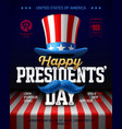 happy presidents day party poster design vector image