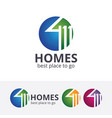 homes logo design vector image vector image
