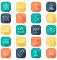 Hotel line icons set Hotel glyph Buttons with vector image vector image