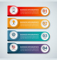 Infographic options banner with 4 steps vector image