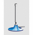 lab burner with blue stand vector image vector image