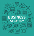 linear business strategy vector image vector image