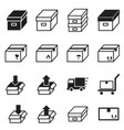logistic delivery icons symbol