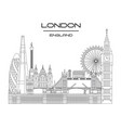 london skyline line art 9 vector image vector image