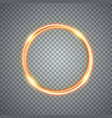 magic gold circle light effect vector image vector image