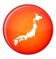 Map of Japan icon flat style vector image vector image