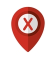 map pointer with shape x vector image vector image