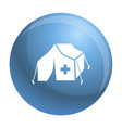migrant help tent icon simple style vector image