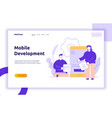 mobile application or website development vector image