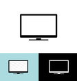 Modern led tv set simple black icon vector image vector image
