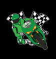 moto race logo design vector image