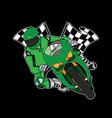 moto race logo design vector image vector image