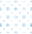 organize icons pattern seamless white background vector image vector image