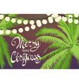Original Christmas palm trees vector image vector image