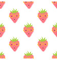 pattern with cute strawberry vector image