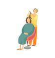 procedures in hairdressing salon cartoon banner vector image vector image